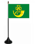 Huntingdonshire Desk / Table Flag with plastic stand and base.